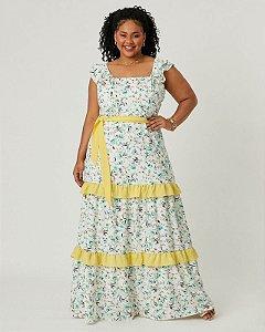Vestido Plus Size Emilly Amarelo