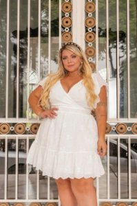 Vestido Plus Size Kate Off White