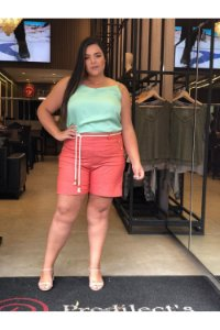 Shorts em Linho Terracota