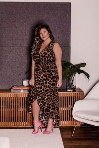Vestido Plus Size Animal Print