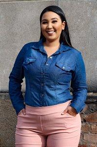 Camisa Jeans Plus Size Renata
