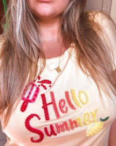 T-Shirt Plus Size Hello Summer