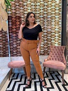 Calça Montaria Bengaline com Cinto Tijolo