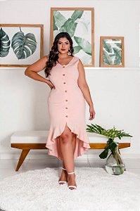 Vestido Midi Paloma Rosê