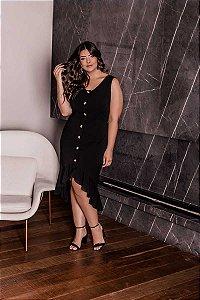 Vestido Midi Paloma Preto