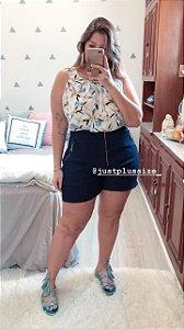 Conjunto Shorts e Regata Acetinada