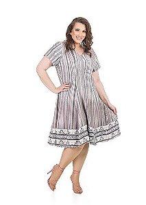 Vestido Acinturado com Saia Rodada Marrie