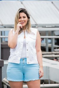 Colete Jeans Plus Size Colors