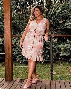 Vestido Tie Dye Plus Size Rosê