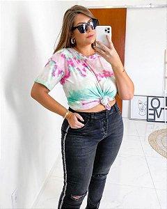 Blusa Plus Size Tie Dye Paradise