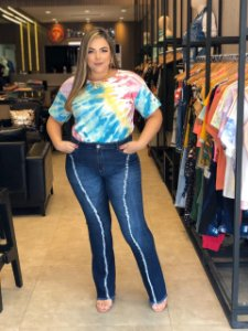 Blusa Plus Size Tie Dye Lola