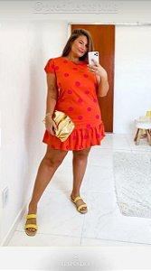 Vestido Estampa Poá Plus Size Luna