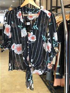 Camisa Plus Size Morgana Preta