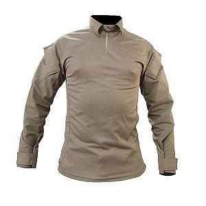 Camisa Militar T-shirt Combat Tatica Caqui Reforçada Fox Boy