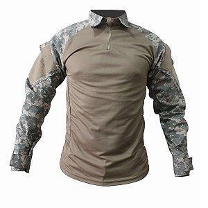 Combat Shirt Raglan Fox Boy Caqui Digital Deserto