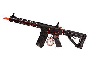 RIFLE G&G CM16 SRXL Red Edition (Com gatilho eletrônico e MOSFET) RIS METAL