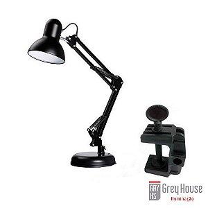 Luminária de Mesa Pixar Preta | Grey House