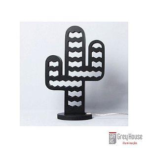 Luminária Mandacaru Preto | Grey House