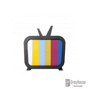 Luminária TV Preta | Grey House