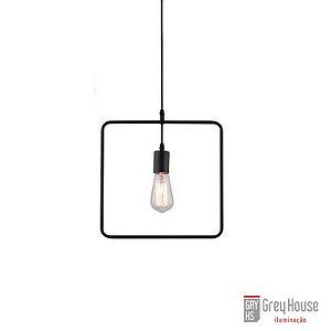 Pendente Aramado Forma Geométrica Quadrado p 1x E27 | Grey House