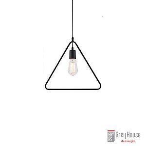 Pendente Aramado Forma Geométrica Triângulo p 1x E27 | Grey House