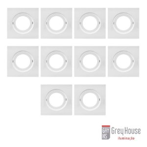 Kit Spot de Embutir 37,5x120x120mm c/ 10 para PAR 20 | Grey House