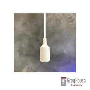 Pendente Branco Soquete/Fio p/ 1x E27 | Grey House