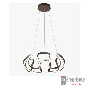 PENDENTE LED 3000K ACOPLADO MARROM | GREY HOUSE