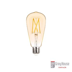 Lâmpada ST64 Filamento Vintage 2W 200lm 2400K | Grey House