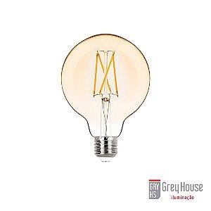 Lâmpada G95 Balloon Filamento Vintage 2W 200lm 2400K | Grey House