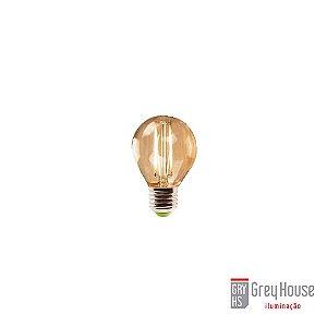 Lâmpada Mini Bulbo Filamento Led 2W 2200K   Grey House