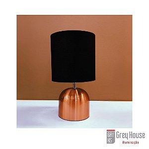 Abajur Turin Cobre e Preto | Grey House