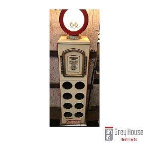 Luminária Adega Estilo Bomba de Gasolina | Grey House