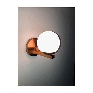 Arandela em Alumínio e Globo de Vidro 1 X G9 | Hansa