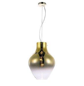 Pendente True 38XØ28CM Vidro Dourado Degradê e Metal Dourado PD1150 | Quality