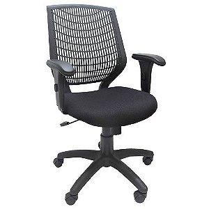 Cadeira Executiva para Escritório Ergonômica Base Giratória Nylon Delli Preta | Design Chair