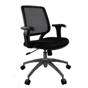 Cadeira Diretor Base Giratória Alumínio Carporate Tela Mesh | Design Chair