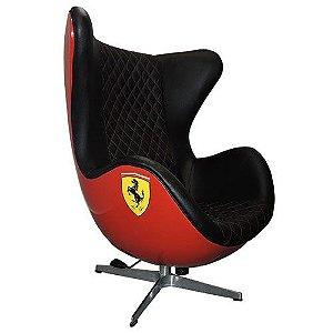 Poltrona Egg Ferrari Base em Alumínio 4 Pontas | Design Chair