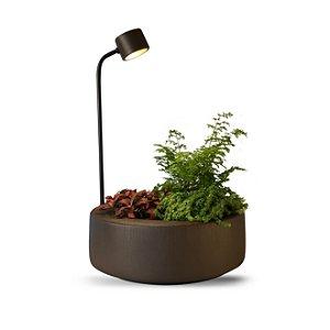 Luminária de Mesa Garden Bio Café 32 x 50 x 32 cm 1 x Led 2700k | Geo Luz e Cerâmica