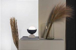 Luminária de Mesa Don em Cerâmica Preto e Branco 18 x 16 cm 1 x G9 | Geo Luz e Cerâmica