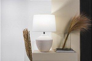 Abajur Buriti em Cerâmica Branco 28 x 54 x 28 cm 1 x E27 | Geo Luz e Cerâmica