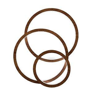 Arandela Plafon Frame Circular em Madeira 10 x 70 x 126,5 cm Led Acoplado | Accord
