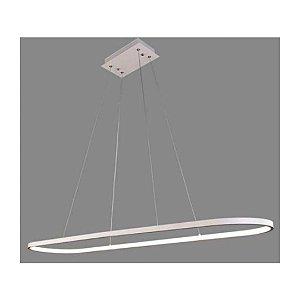 Pendente em Led 40W 1200x300x1000 mm em Aluminio Acabamento Branco | Grey House