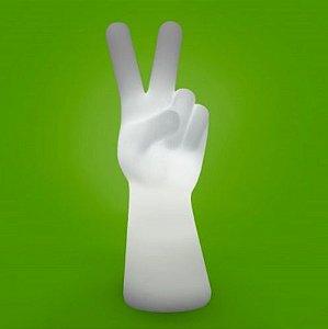 Luminária de Mesa Mão Paz e Amor | Usare