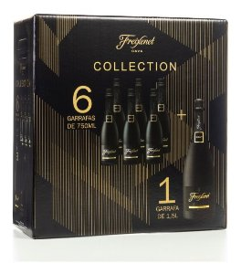 Kit Espumante Freixenet Cordón Negro Collection 6 un 750ml + 1 Magnum