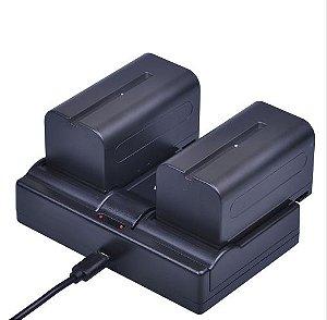 Baterias E Carregador para Ring Light  Np-f750