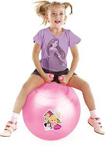 Bola Pula Pula Princesa Disney Upa Princesas Rosa 60cm 25kg