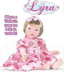 Boneca Realista Lyra 51cm ela chora e balbucia como um Bebê