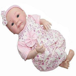 Boneca Realista Mariazinha 43cm tem Cheirinho de Bebê Reborn