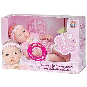 Boneca Realista Bebê Tatá 41cm tem Cheirinho de Bebê e Chora